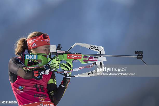 Laura Dahlmeier of Germany competes during the 15 km women's Individual on January 19 2017 in AntholzAnterselva Italy