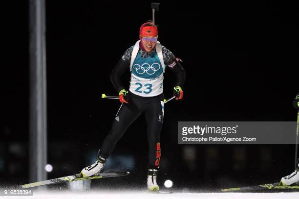 Laura Dahlmeier of Germany wins the gold medal during the Biathlon Women's 75km Sprint at Alpensia Biathlon Centre on February 10 2018 in...