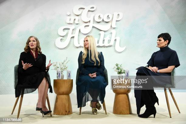 Laura Day, Laura Lynne Jackson and Elise Loehnen speak onstage during the Intuition Workshop at the In goop Health Summit New York 2019 at Seaport...