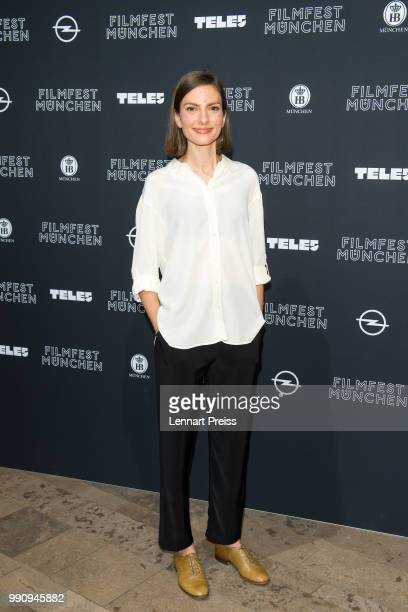 Laura de Boer attends the premiere of the first and second episode of the series 'Die Protokollanttin' as part of the Munich Film Festival 2018 at...