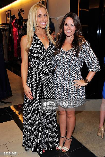 Laura de la Pena and Amanda Kenning attend the Costa Mesa Firefighter Fashion Show benefitting CHOC Children's Glass Slipper Fund at AnQi Gourmet...