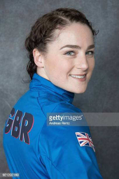 Laura Deas of Great Britain poses for a briefly portrait on day eleven of the PyeongChang 2018 Winter Olympic Games on February 20 2018 in Gangneung...