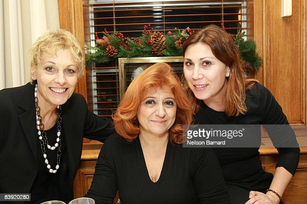 Laura Delli Colli and Eleonora Pratelli attend the dinner party honoring Ferzan Ozpetek at Benoit New York on December 4 2008 in New York City