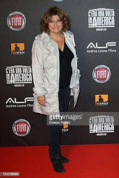 Laura Delli Colli attends the 'C'era Una Volta In America Director's Cut' premiere at Space Moderno on October 16 2012 in Rome Italy