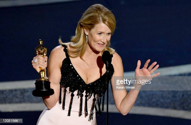 Laura Dern accepts the Actress in a Supporting Role award for 'Marriage Story' onstage during the 92nd Annual Academy Awards at Dolby Theatre on...