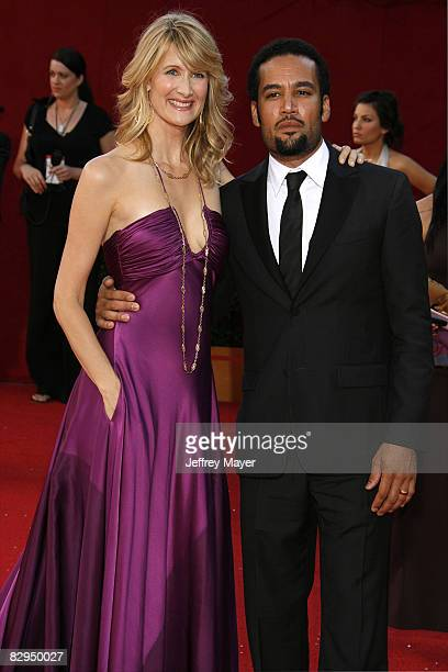 Laura Dern and Ben Harper arrive at the 60th Primetime Emmy Awards at the Nokia Theater on September 21, 2008 in Los Angeles, California.