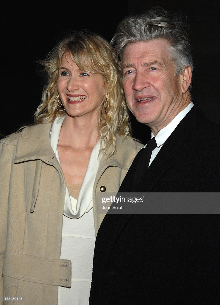 Laura Dern and David Lynch, director during 'Inland Empire' Los Angeles Premiere - Red Carpet and Q&A at Bing Theater at LACMA Museum in Los Angeles, California, United States.