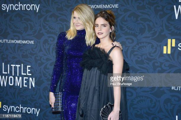 Laura Dern and Emma Watson attend Little Women World Premiere on December 7 2019 at Museum of Modern Art in New York City