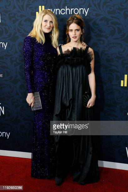 Laura Dern and Emma Watson attend the world premiere of Little Women at Museum of Modern Art on December 07 2019 in New York City