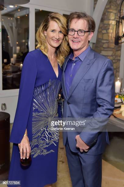 Laura Dern and Kyle MacLachlan attend Esquire and the Medavoys host a party to celebrate the Golden Globes presented by Maserati at Private Residence...