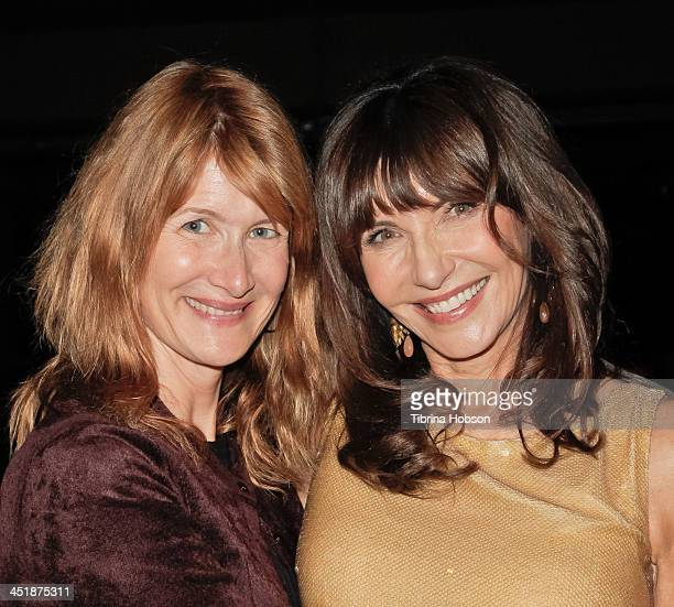 Laura Dern and Mary Steenburgen attend a performance by Mary Steenburgen at Vibrato Bar Grill on November 24 2013 in Los Angeles California