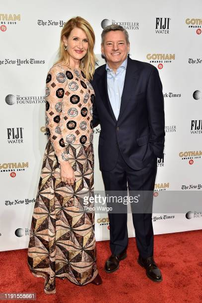 Laura Dern and Netflix Chief Content Officer Ted Serandos attend the IFP's 29th Annual Gotham Independent Film Awards at Cipriani Wall Street on...