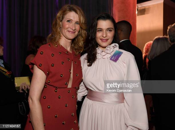 Laura Dern and Rachel Weisz attend the 91st Oscars Nominees Luncheon at The Beverly Hilton Hotel on February 04 2019 in Beverly Hills California