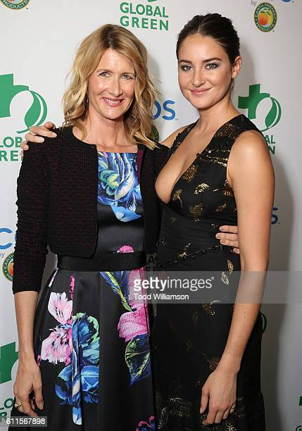 Laura Dern and Shailene Woodley attend the Global Green 20th Anniversary Environmental Awards at Alexandria Ballrooms on September 29 2016 in Los...