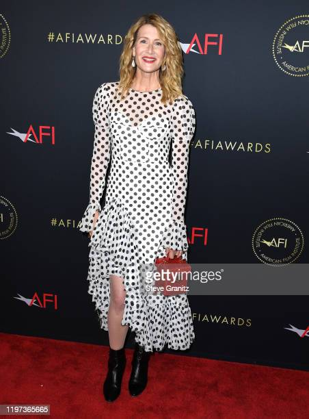 Laura Dern arrives at the 20th Annual AFI Awards at Four Seasons Hotel Los Angeles at Beverly Hills on January 03 2020 in Los Angeles California