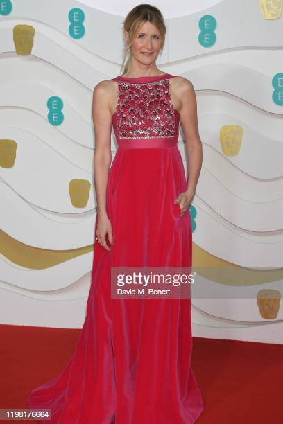 Laura Dern arrives at the EE British Academy Film Awards 2020 at Royal Albert Hall on February 2, 2020 in London, England.