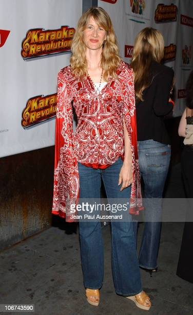 Laura Dern at the Karaoke Revolution hosted by the Elizabeth Glaser Pediatric AIDS Foundation