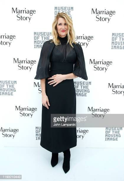 Laura Dern attends as the Museum Of The Moving Image honors Marriage Story with a Moving Image Award at Museum of Moving Image on December 10 2019 in...