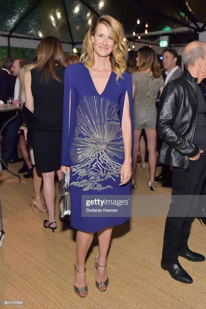 Laura Dern attends Esquire and the Medavoys host a party to celebrate the Golden Globes, presented by Maserati at Private Residence on January 5, 2018 in Beverly Hills, California.