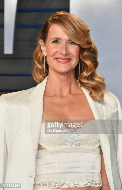 Laura Dern attends the 2018 Vanity Fair Oscar Party hosted by Radhika Jones at Wallis Annenberg Center for the Performing Arts on March 4 2018 in...