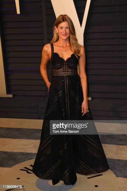 Laura Dern attends the 2019 Vanity Fair Oscar Party hosted by Radhika Jones at Wallis Annenberg Center for the Performing Arts on February 24 2019 in...