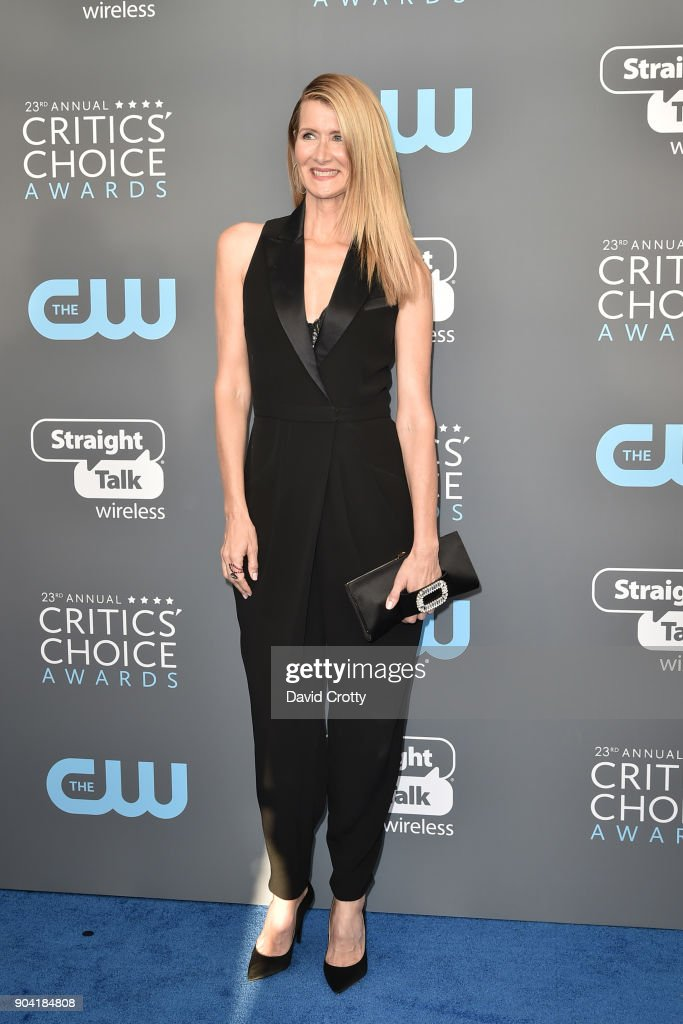 Laura Dern attends The 23rd Annual Critics' Choice Awards - Arrivals at The Barker Hanger on January 11, 2018 in Santa Monica, California.