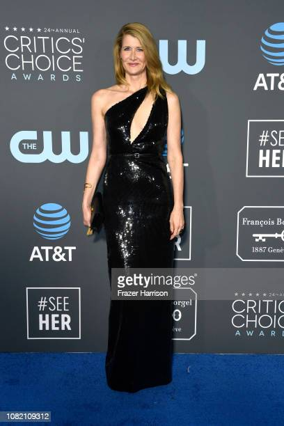 Laura Dern attends the 24th annual Critics' Choice Awards at Barker Hangar on January 13 2019 in Santa Monica California