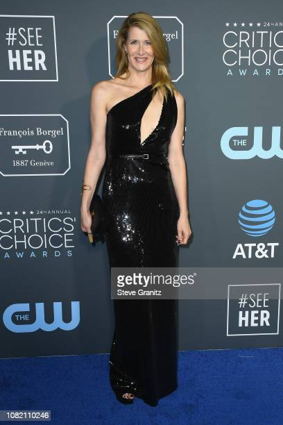 Laura Dern attends the 24th annual Critics' Choice Awards at Barker Hangar on January 13 2019 in Santa Monica California