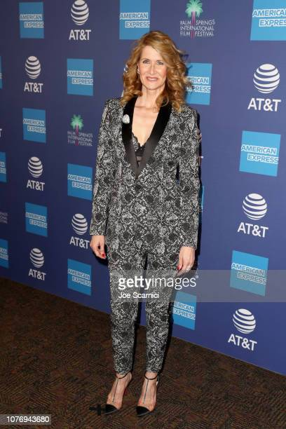 Laura Dern attends the 30th Annual Palm Springs International Film Festival Film Awards Gala at Palm Springs Convention Center on January 3 2019 in...