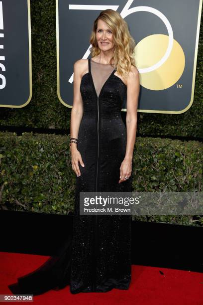 Laura Dern attends The 75th Annual Golden Globe Awards at The Beverly Hilton Hotel on January 7 2018 in Beverly Hills California