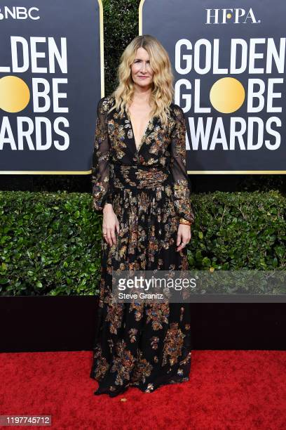 Laura Dern attends the 77th Annual Golden Globe Awards at The Beverly Hilton Hotel on January 05, 2020 in Beverly Hills, California.