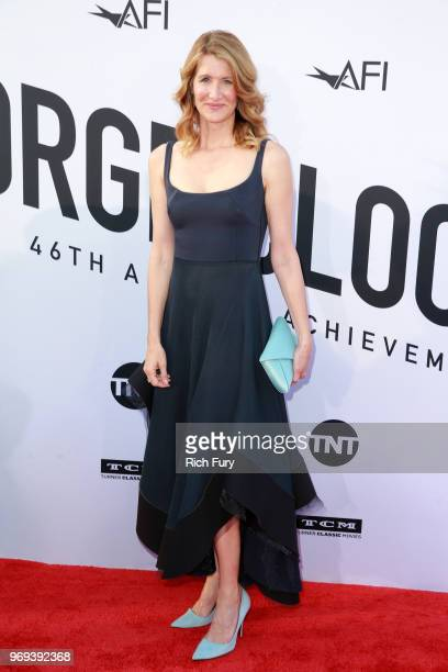Laura Dern attends the American Film Institute's 46th Life Achievement Award Gala Tribute to George Clooney at Dolby Theatre on June 7 2018 in...
