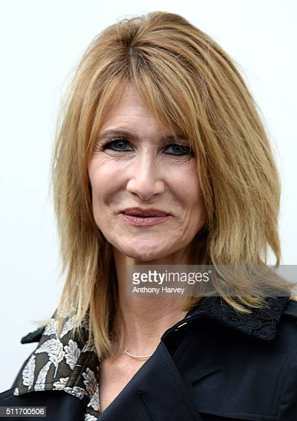 Laura Dern attends the Burberry show during London Fashion Week Autumn/Winter 2016/17 at Kensington Gardens on February 22 2016 in London England