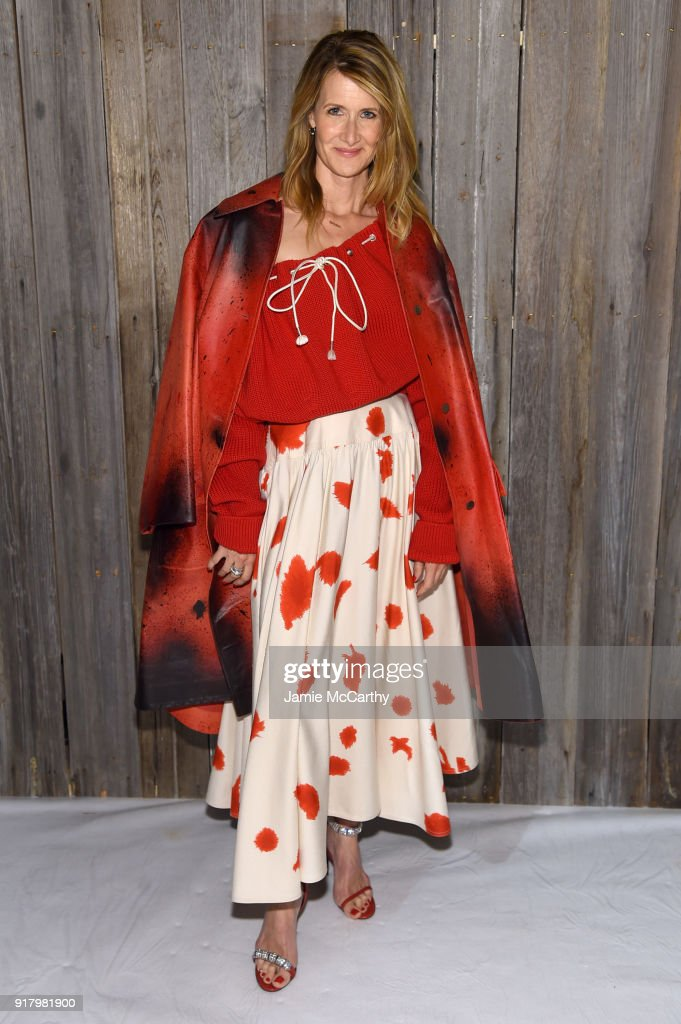 Laura Dern attends the Calvin Klein Collection during New York Fashion Week at New York Stock Exchange on February 13, 2018 in New York City.