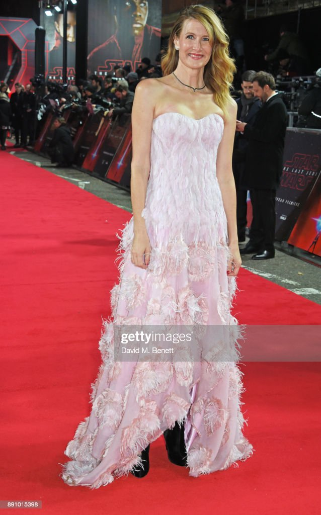 Laura Dern attends the European Premiere of 'Star Wars: The Last Jedi' at the Royal Albert Hall on December 12, 2017 in London, England.