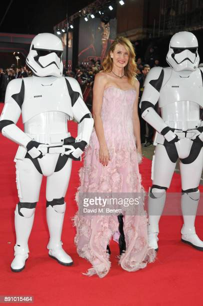 Laura Dern attends the European Premiere of 'Star Wars The Last Jedi' at the Royal Albert Hall on December 12 2017 in London England
