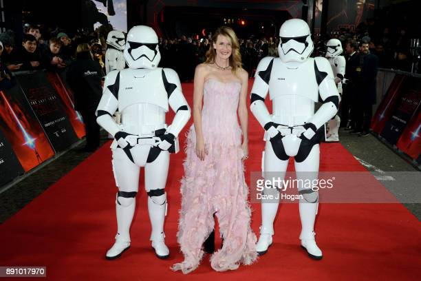 Laura Dern attends the European Premiere of 'Star Wars The Last Jedi' at Royal Albert Hall on December 12 2017 in London England