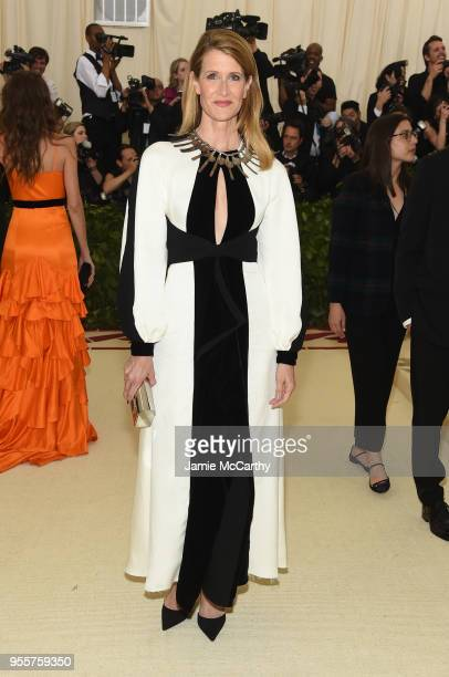 Laura Dern attends the Heavenly Bodies Fashion The Catholic Imagination Costume Institute Gala at The Metropolitan Museum of Art on May 7 2018 in New...