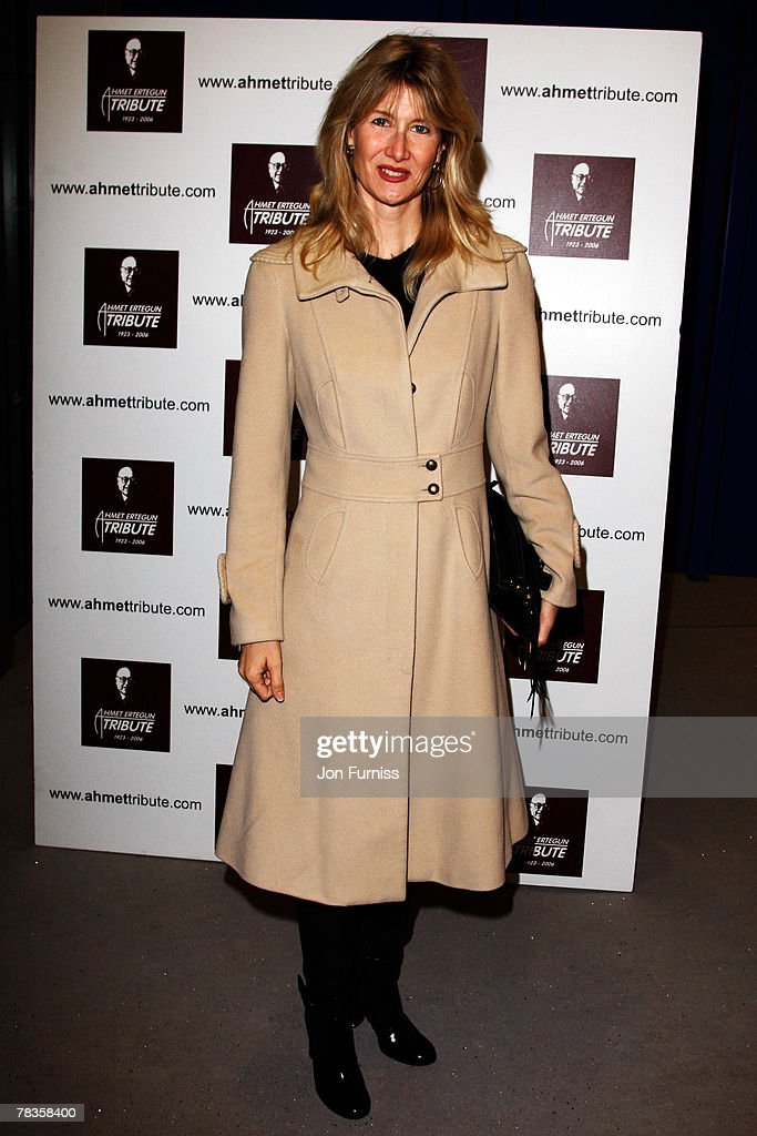 Laura Dern attends the Led Zeppelin Tribute To Ahmet Ertegun concert, held at the O2 Arena on December 10, 2007 in London, England.