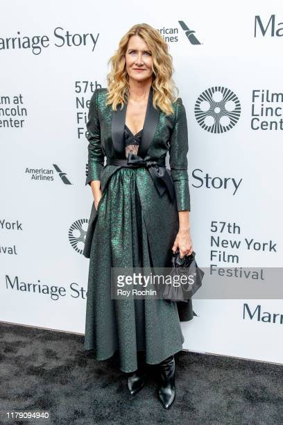 """Laura Dern attends the """"Marriage Story"""" premiere at the 57th New York Film Festival on October 04, 2019 in New York City."""
