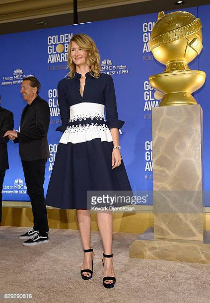 Laura Dern attends the Nominations Announcement For The 74th Annual Golden Globe Awards at The Beverly Hilton Hotel on December 12 2016 in Beverly...