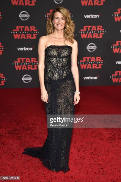 Laura Dern attends the premiere of Disney Pictures and Lucasfilm's 'Star Wars The Last Jedi' at The Shrine Auditorium on December 9 2017 in Los...