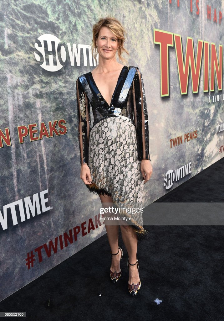 Laura Dern attends the premiere of Showtime's 'Twin Peaks' at The Theatre at Ace Hotel on May 19, 2017 in Los Angeles, California.