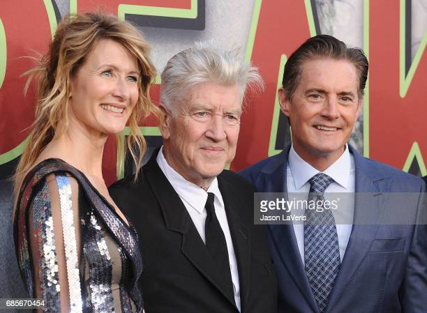 Laura Dern David Lynch and Kyle MacLachlan attend the premiere of 'Twin Peaks' at Ace Hotel on May 19 2017 in Los Angeles California
