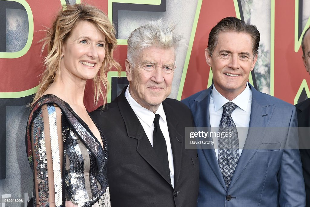 Laura Dern, David Lynch and Kyle MacLachlan attend the World Premiere Of Showtime's 'Twin Peaks' - Arrivals at The Theatre at Ace Hotel on May 19, 2017 in Los Angeles, California.