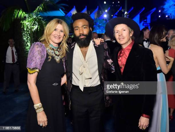 Laura Dern Donald Glover and Beck all wearing Gucci attend the 2019 LACMA Art Film Gala Presented By Gucci at LACMA on November 02 2019 in Los...