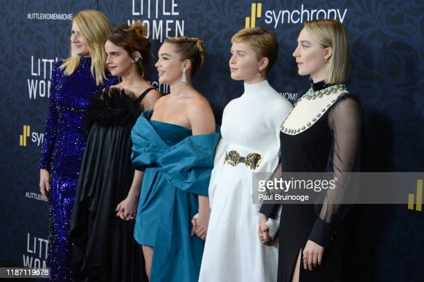 Laura Dern Emma Watson Florence Pugh Eliza Scanlen Saoirse Ronan attend Little Women World Premiere on December 7 2019 at Museum of Modern Art in New...