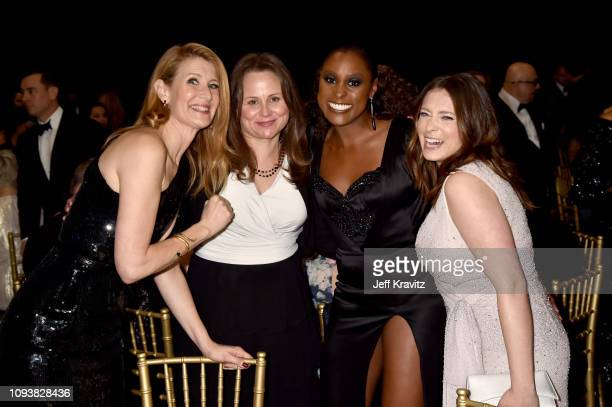Laura Dern Issa Rae and Rachel Bloom at The 24th Annual Critics' Choice Awards at Barker Hangar on January 13 2019 in Santa Monica California
