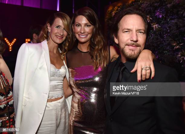Laura Dern Jill McCormick and Eddie Vedder attend the 2018 Vanity Fair Oscar Party hosted by Radhika Jones at Wallis Annenberg Center for the...