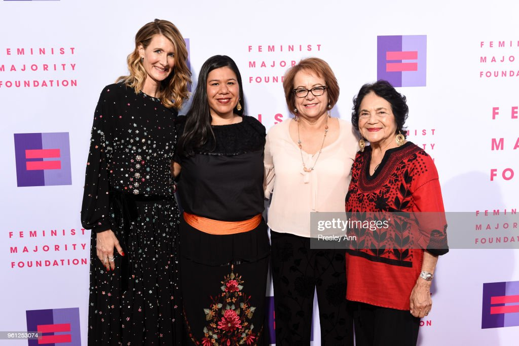 Laura Dern; Monica Ramirez; Maria Elena Durazo and Dolores Huerta attend 13th Annual Global Women's Rights Awards at Wallis Annenberg Center for the Performing Arts on May 21, 2018 in Beverly Hills, California.
